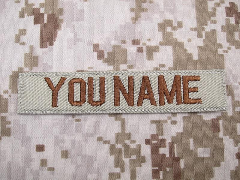 Tan Custom Name tapes Chest Tapes Services Tapes morale tactical military  Embroidery patch Badges