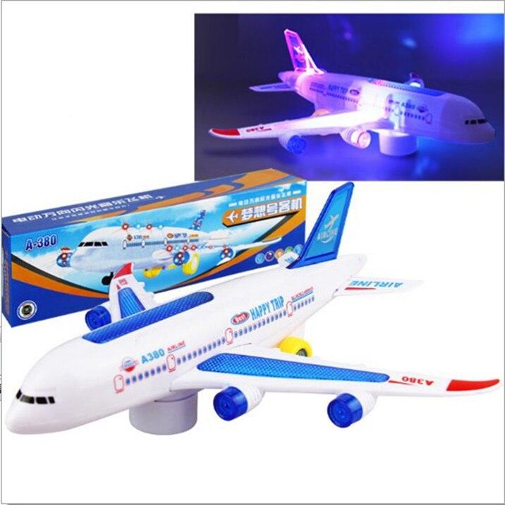 Fernbedienung Spielzeug Heiße Neue Flugzeug Spielzeug Elektrische Flugzeug Moving Blinkende Lichter Sounds Kinder Spielzeug Diy Aircraft Geschenk