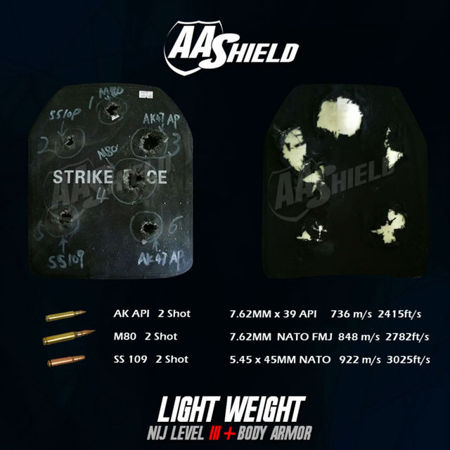 AA Shield Bullet Proof Ultra-Light Weight Hard Plate Body Armor Inserts Shooter Cut # & AA Shield Bullet Proof Ultra Light Weight Hard Plate Body Armor ...