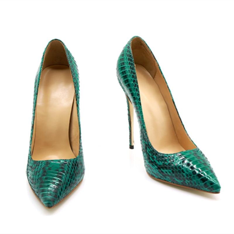 Bombas Tacones Python Sexy Fiesta Tamaño 2018 De Patrón Altos Boda Gran 43 Zapatos Mujer Verde Club Nuevo qwxCzHES