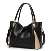 2018 Limit Discount Women Genuine Leather Shoulder Bag Causal Totes Female Handbag Black Crossbody Large Capacity Top Handle Bag