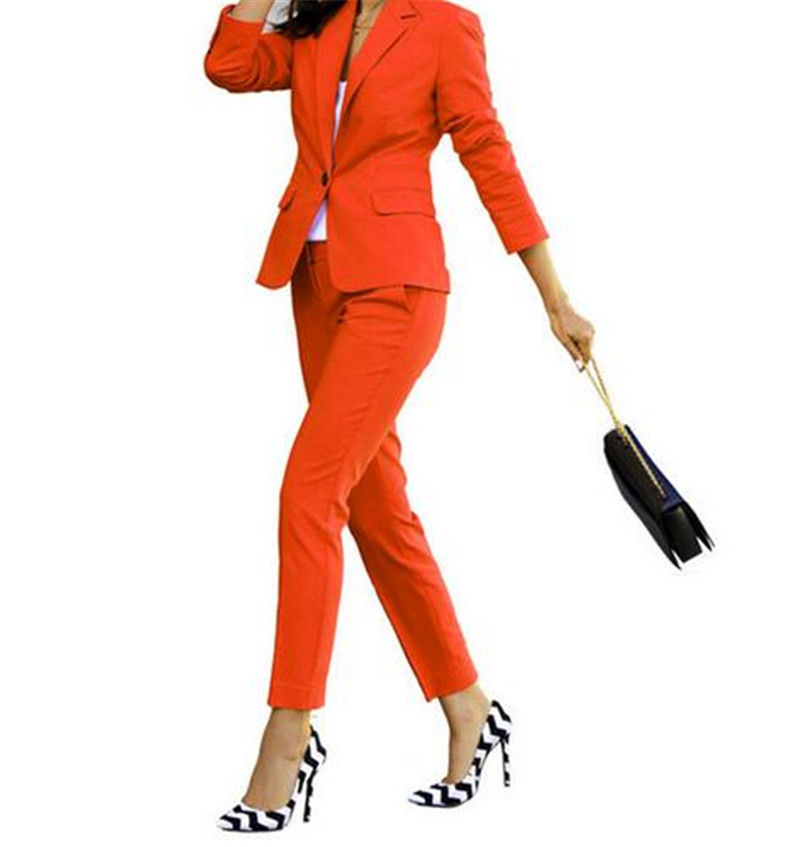 008 009 2 Outfit Orange Pantsuits 002 007 Travail D'affaires Fait Ensemble Formel Pièces Bureau 004 006 De Uniforme Dames Vêtements 005 Sur 010 Mesure 019 Blazer 011 018 015 016 014 017 Pantsuit 001 003 012 Femmes 013 tpn8TFq