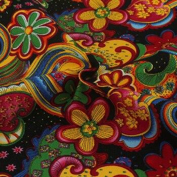 Hometextile jok Kain Katun Kanvas Untuk Jahit DIY Handmade Untuk Tirai Bantal Tas Sepatu Sutra Bunga 50x150 cm B1-1-10