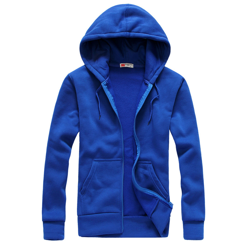 Plus Size S-XXL Mens Casual Hoodies Sweatshirt Fashion Solid sweatshirts men hoddie Zipper Coat Men Hoody Jacket Simple Style