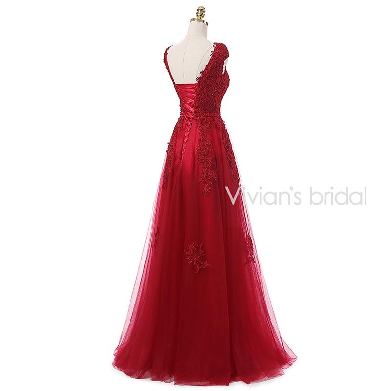 Vivian's Bridal Burgundy Sexy Kjole Kjole Lang 2016 Couture Formell - Spesielle anledninger kjoler - Bilde 3
