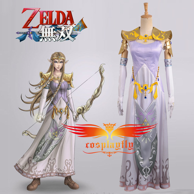 US $119 99 |W0941 Video Games The Legend of Zelda:Hyrule Warriors (Zelda  Muso) Princess Zelda Cosplay Costume Custom Made Full Set-in Game Costumes