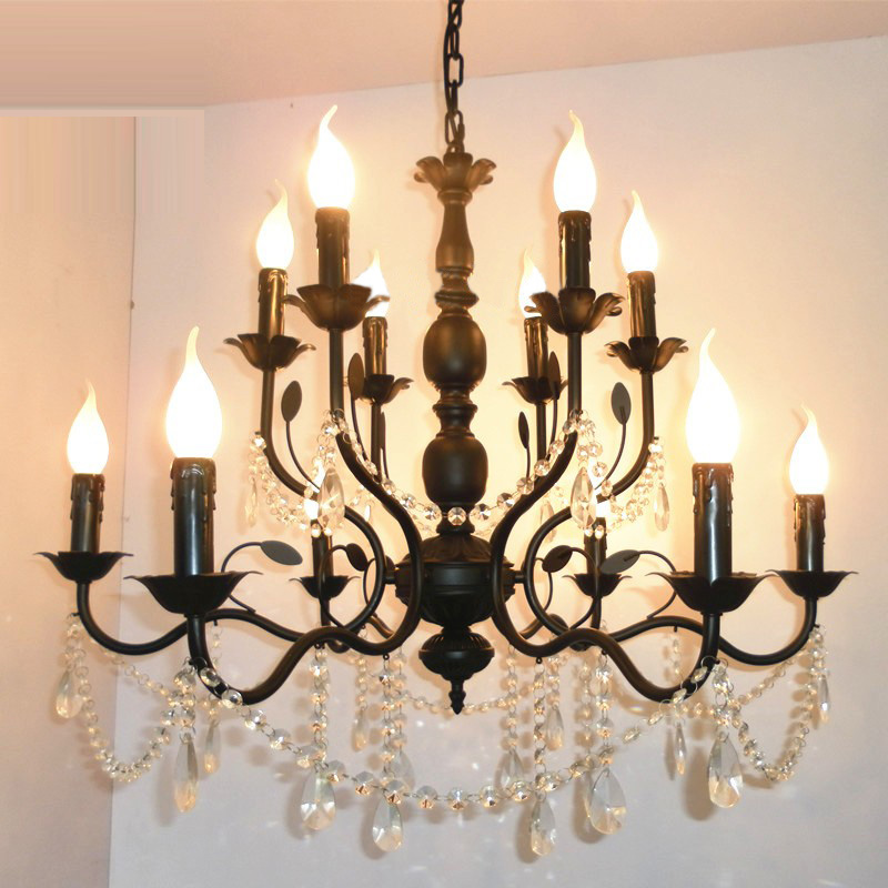 Popular Black Iron Candle ChandelierBuy Cheap Black Iron Candle – Wrought Iron Candle Chandelier