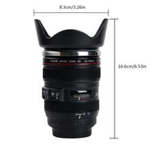 Mug Automatic Electric  Lazy Self Stirring Mug Camera Lens Mug Travel Thermos Stainless Steel Insulated Cup for Coffee