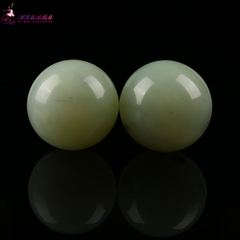 HIMABM 55mm Natural jade Hand Massage Ball Natural Healthy Care Massaging Stone Healing Sphere Exercise Ball SPA Tools Fitnes 2 sets ball the plum flower jade handball furnishing articles hand bead natural jade health care gifts
