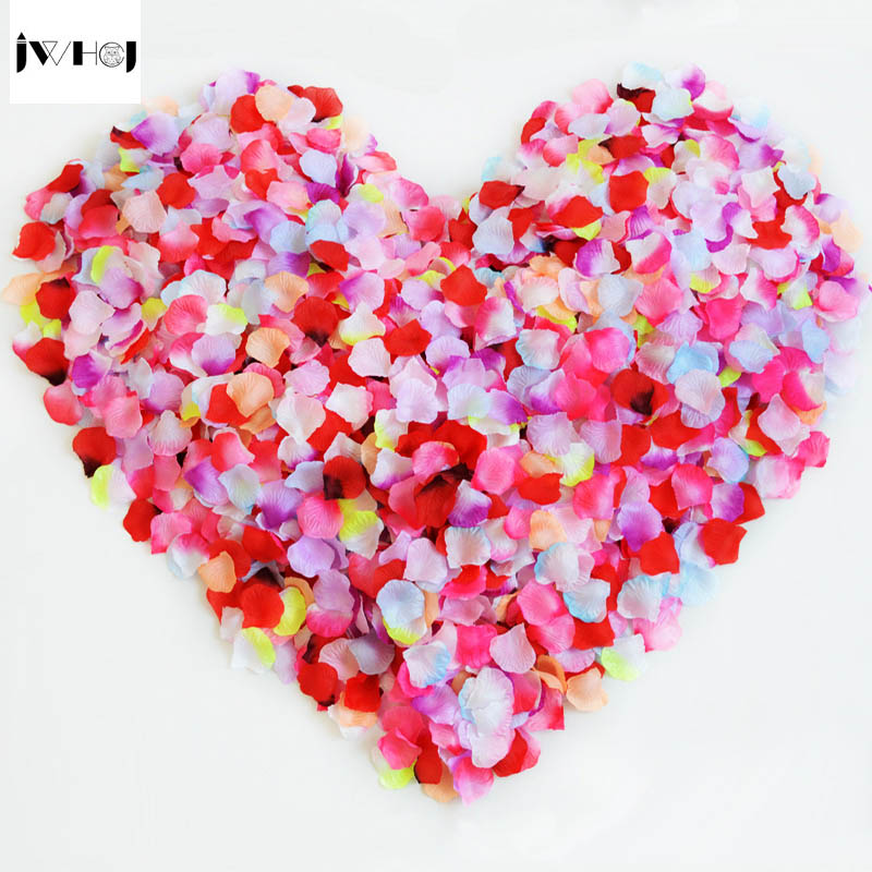 500 pcs /lot Silk Rose petals Artificial Flowers Fake flower <font><b>Streamers</b></font> Confetti for DIY wedding/Valentine's day Party Decoration
