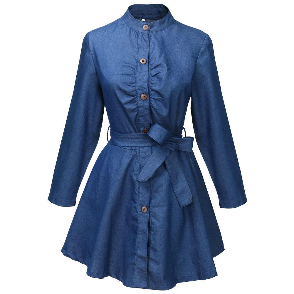 c951ca20993 Women Denim Jeans Dress Long Sleeve Clubwear Autumn Hot Casual Mini Dresses  Ladies Cothes