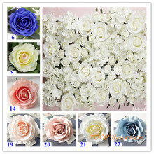 100PCS Vintage Rose flower Head Artificial Flower Wall Accessories Simulation Wedding Supplies Home YXF17