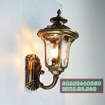 כפר אמריקאי קיר חיצוני רטרו מנורות חיצונית עמיד למים LED גן מנורת קיר מסדרון מעבר מרפסת מרפסת LU62797 ZL387
