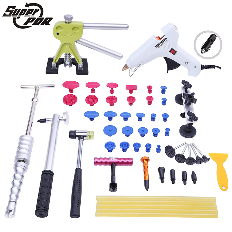 PDR kit Paintless Dent Removal Repair Tools dent puller slide hammer pulling bridge 12v glue gun Tool to remove dents pdr toolkit auto repair tool to remove dents car body repair paintless dent repair pulling bridge 12 v glue gun