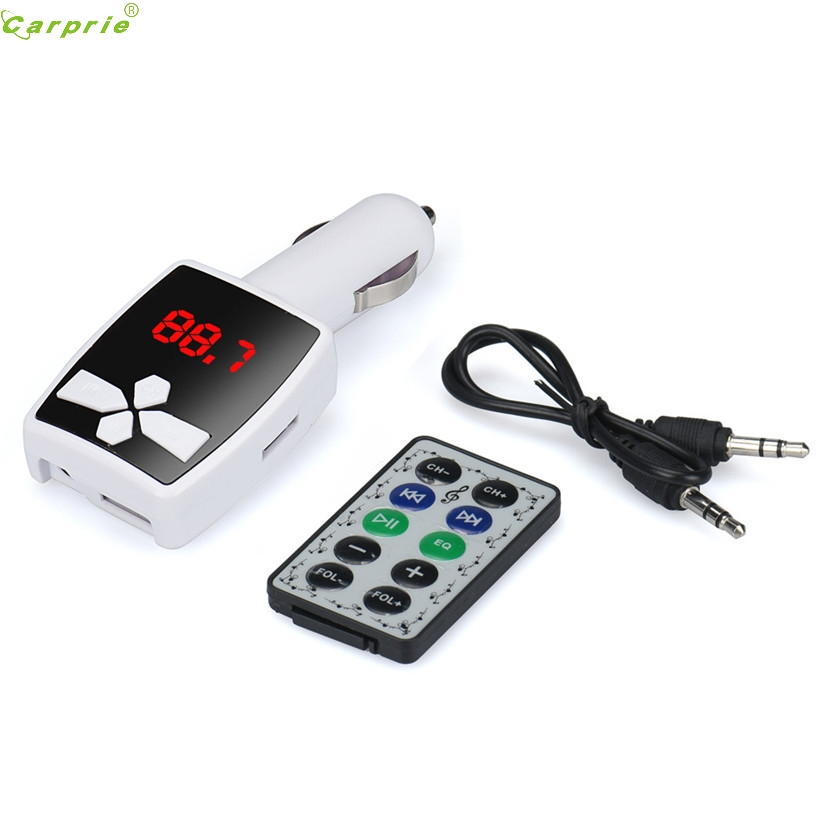 Top Quality FM Transmitter car-styling MP3 Player Wireless FM Transmitter Modulator Car Kit USB SD MMC LCD Remote SZ1226