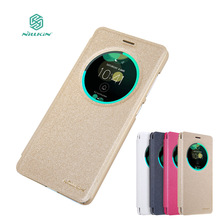 Nillkin For Asus Zenfone 3 Deluxe ZS570KL Case Sparkle Luxury Open Window PU Leather Case For Asus ZS570KL Flip Phone Cases