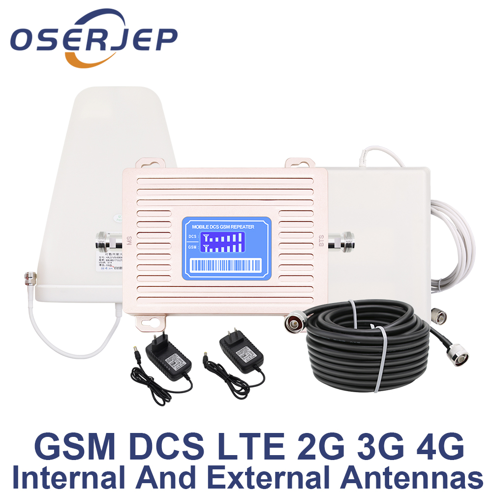 LCD Display GSM 900 UMTS 1800 mhz Dual Band Repeater GSM 2G 3G LTE Phone Amplifier