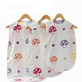 Spring Autumn Baby Sleeping Bag 0-3 Year Sleeveless Mushroom Pattern Gauze Infant Sleeping Bag Cartoon Kawaii Bebek Uyku Tulumu