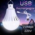 E27 Flashlight Led Emergency Bulbs USB Rechargeable Bombillas 220V 5W 7W 9W 12W 20W 30W 40W LEDs Night Lights Car-charger Lamp