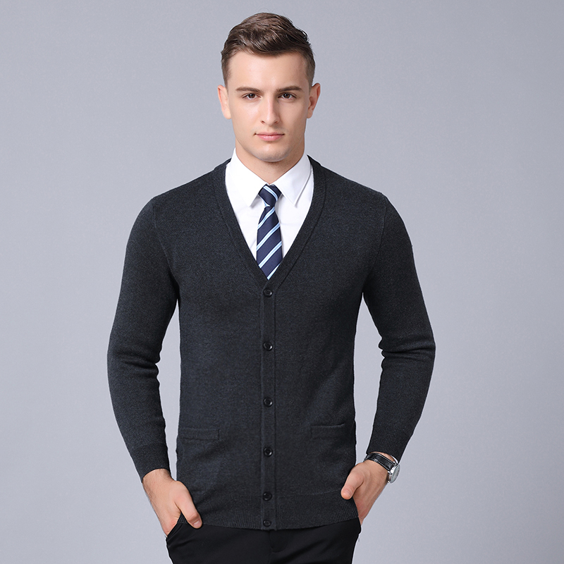 2020 New Fashion Brand Sweaters Men Cardigan Thick Slim Fit Jumpers Knitwear Warm Autumn Korean Style Casual Clothing Male
