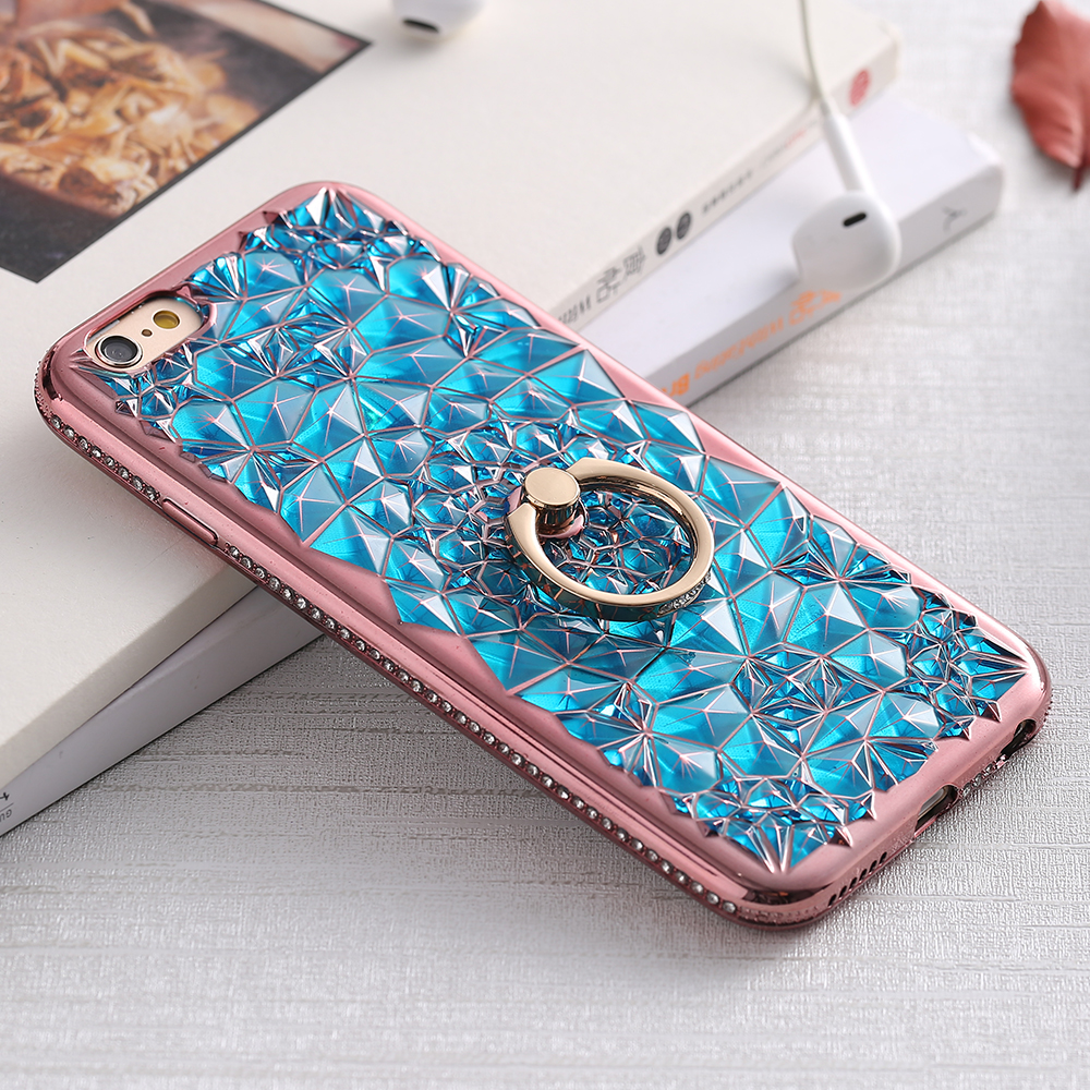 For iPhone 6 Case KISSCASE Bling Glitter Diamond Soft TPU Phone Cases For iPhone 6 6s Plus 7 8 Plus Case With Ring Holder Cover