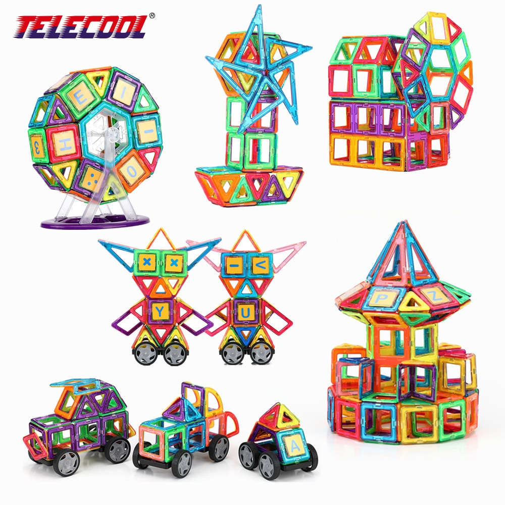 TELECOOL 89/102/149 PCS Big Size Magnetic Designer Building Block Model Educational Baby Toys For Birthday Gift 100 pcs 149 pcs magic building block magnetic toys preschool skills educational game construction stacking sets block brick