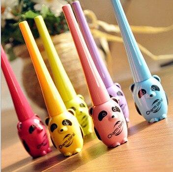 6 colors/lot cartoon eyeliner cute cartoon panda modelling liquid eyeliner thick waterproof shading vintage melange