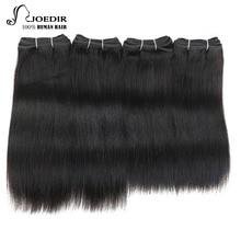 Joedir Hair Brazilian Yaki Straight Human Hair 4 Bundles Deal 190G 1 Pack Natural Black Non Remy Brazillian Hair Bundles