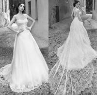 New Arrival Romantic Appliques Lace A Line Wedding Dresses 2019 Bridal Dresses Vestidos De Noiva Wedding&event