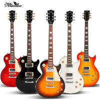 Minsine LP Rock Electric Guitar Double Pickups Effects Set Performance Graffiti Electric guitar
