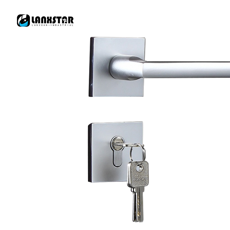 Indoor Sand Body Space Aluminum Silver Color Split Lock Indoor Handle Locks Movel All-match Door-locks мужская обувь