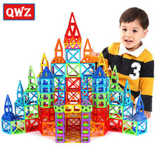 QWZ 92pcs Magnetic Designer Mini 3D Magnetic Model Blocks Magnet Building Blocks Enlighten Educational Toys For Children Gifts(China)