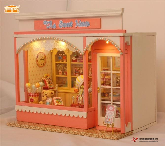 Sweet Home Diy Wood Doll House 3d Miniature Music Boxvoice