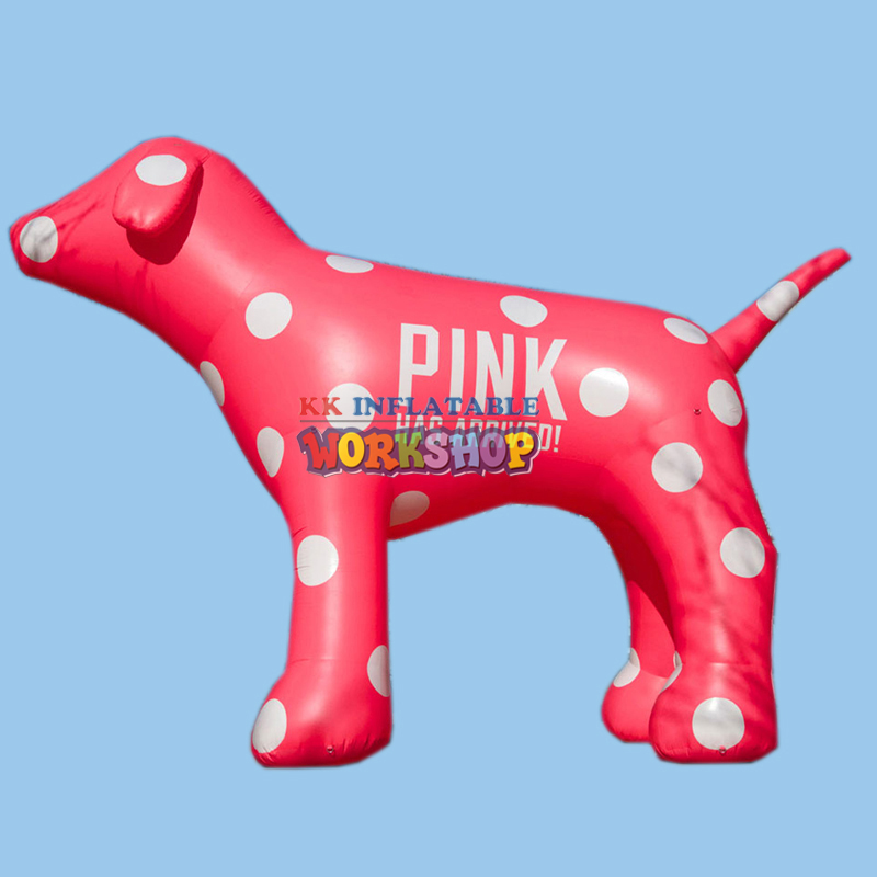 cute giant inflatable pink dog animal balloon inflatable for promotionalcute giant inflatable pink dog animal balloon inflatable for promotional