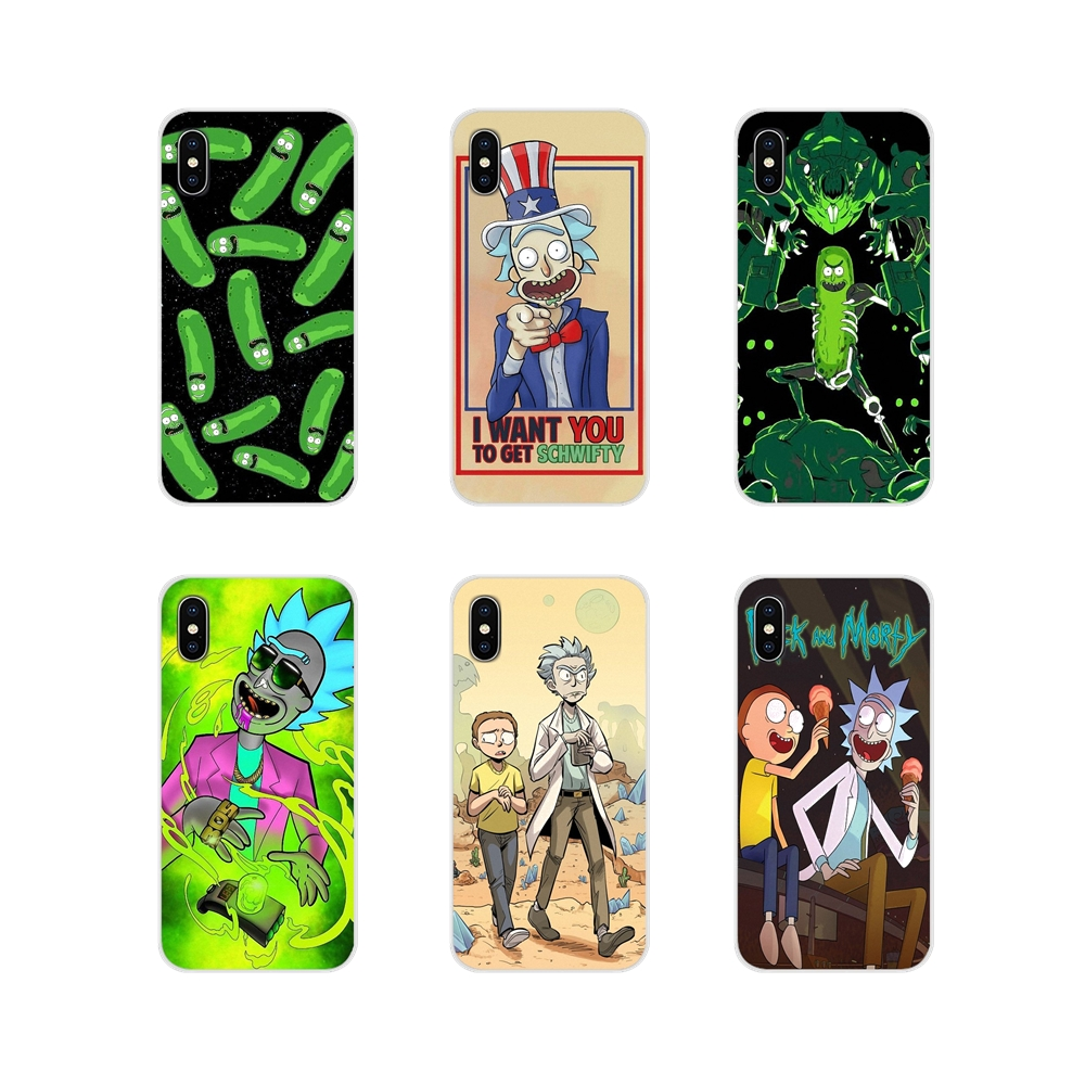 For Samsung Galaxy A3 A5 A7 A9 A8 Star A6 Plus 2018 2015 2016 2017 Cartoon Comic Meme Rick And Morty TPU Transparent Shell Cover image