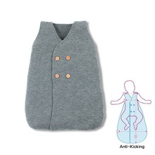 Newborn Sleeping Bag Solid Knitted Baby Anti-Kick Envelopes Winter Thick Warm Infant Unisex Stroller Sleepsack Spring and Autumn