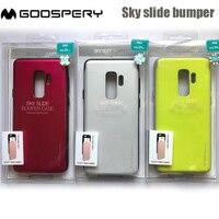 Original mercúrio goospery céu slide slot para cartão amortecedor anti-choque capa de telefone para samsung galaxy s8 s9 plus
