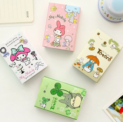 Kawaii Totoro & Melody 6 Folding Memo Pad Sticky Notes Memo Notepad Bookmark Gift Stationery