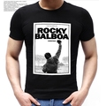 ROCKY BALBOA Printing T-Shirt Famous Movie ROCKY BALBOA POSTER T Shirts 2016 Summer Cotton Short Sleeve Polyester Tops Tees
