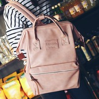 Leather Backpack Women ring Backpacks Female School Bags For teenage Girls Back pack Schoolbag Mochila Travel Bagpack sac a main