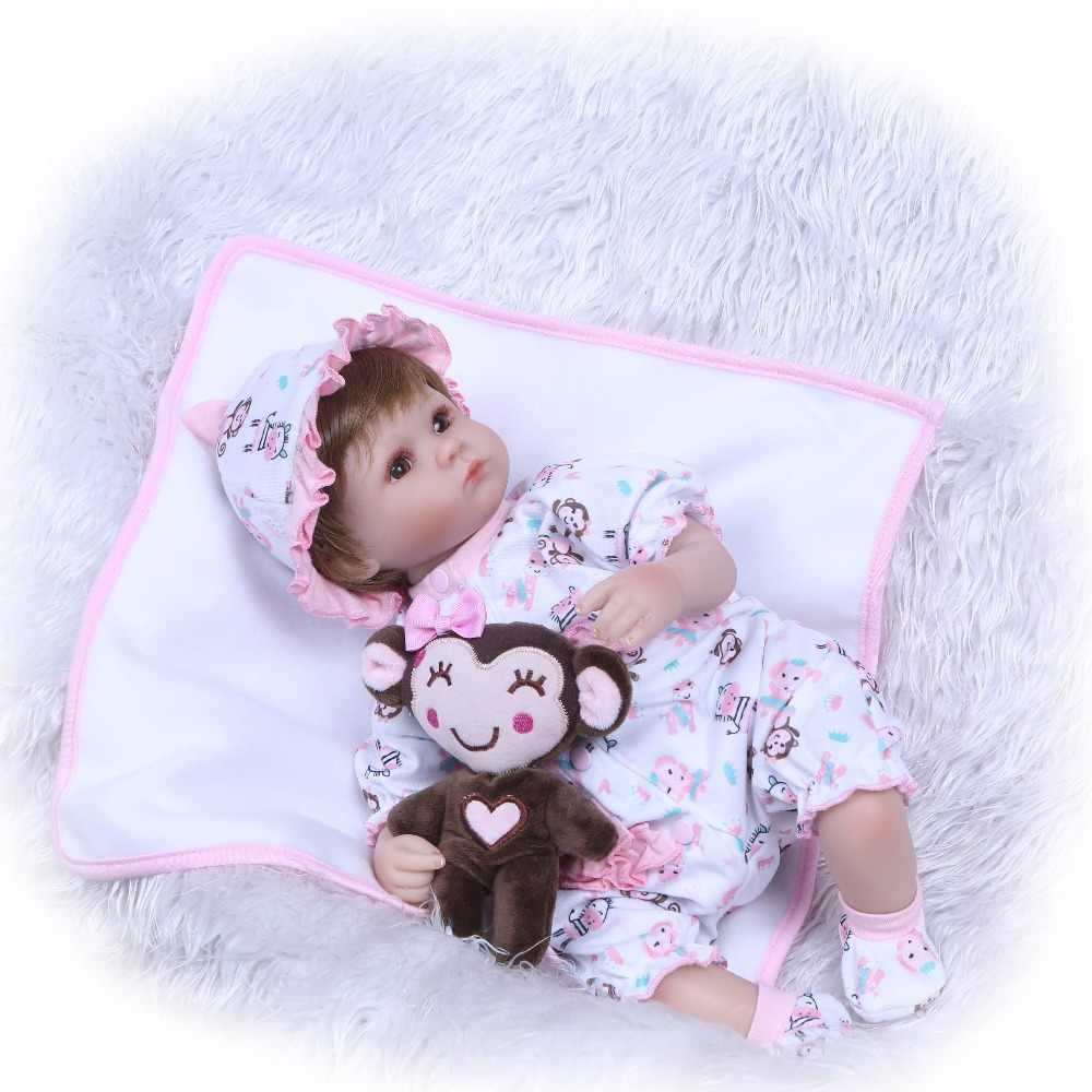 NPK 18 ''עבודת יד בובות reborn סיליקון מציאותי bonecas reborn בובות תינוקת ילדי של מתנת צעצועי למשחק