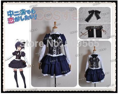 Free Shipping New Chuunibyou Demo Koi Ga Shitai Takanashi Rikka Gothic Lolita Cosplay Costume