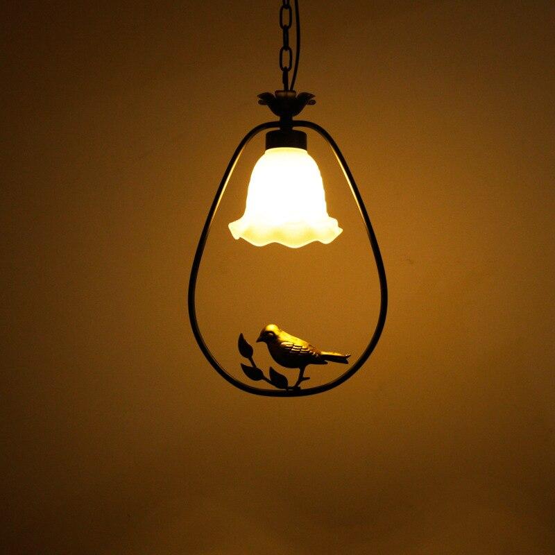 Современный американский гладить птица подвесные светильники творческий Книги по искусству новинка Крытый птичья клетка висит освещение ...