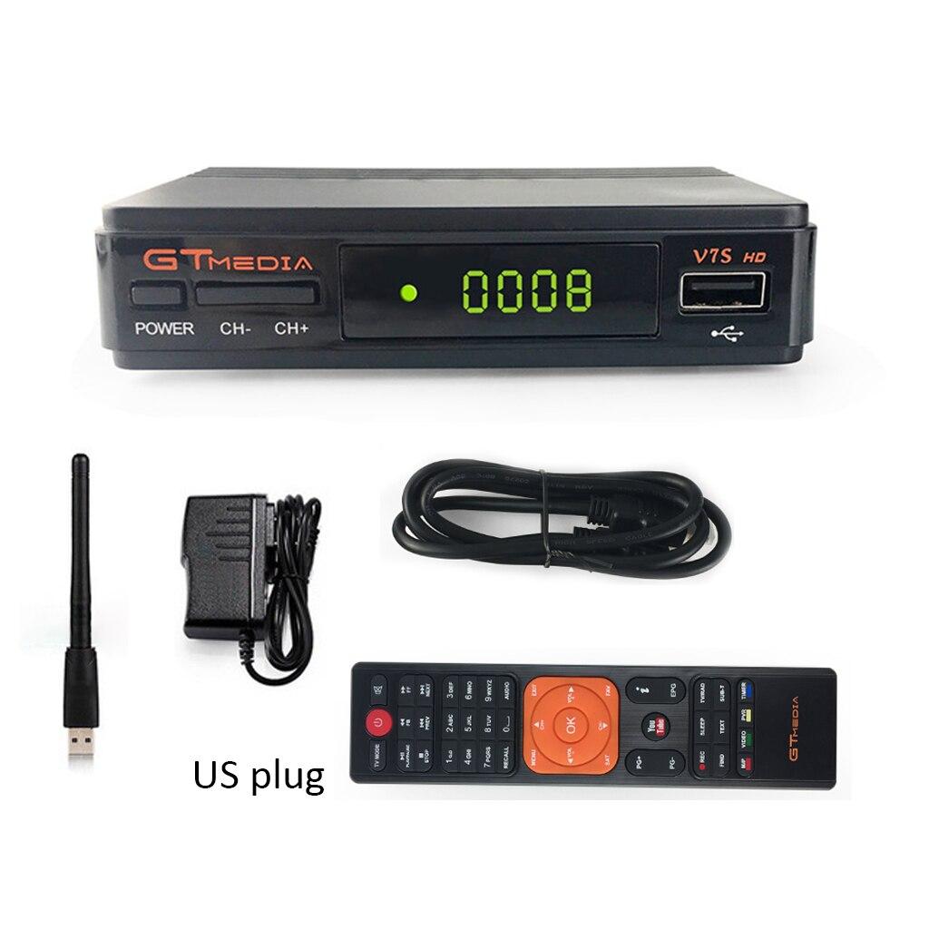 Gtmedia v7s 1080 p receptor digital DVB-S2 receptor de satélite tv sintonizador caixa hd cline decodificador biss vu pvr wifi youtube freesat v7