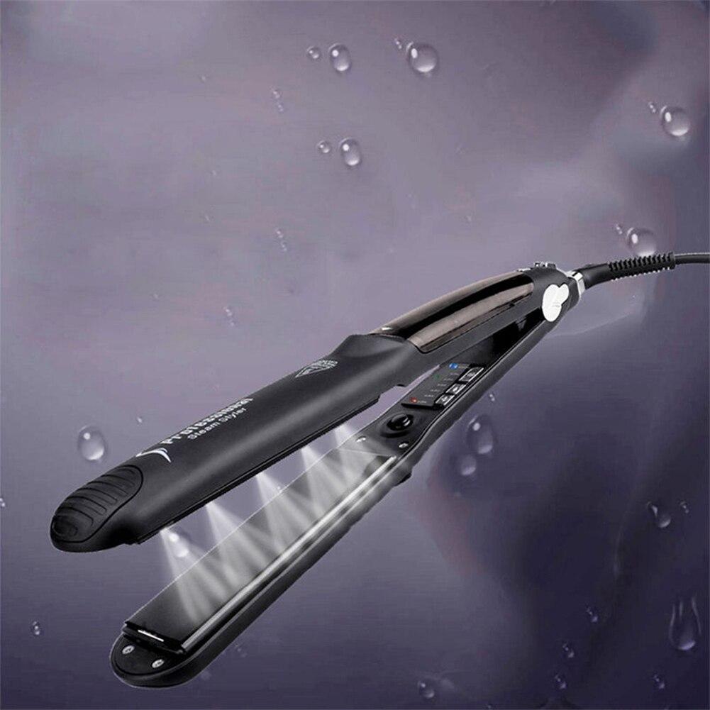 US Plug 50W Ceramic Steam Hair Straightener iron Argan Oil Steam Vapor Seam Straightening Iron Steamer Styling Tool платье seam seam mp002xw18uic