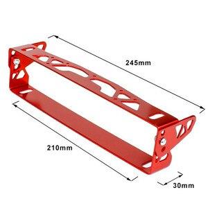 Image 5 - 1pc Nuovo Multi Colore Universale Per Auto In Alluminio JDM Styling License Plate Frame Telaio Tag Porta di Alimentazione Cornici Targa