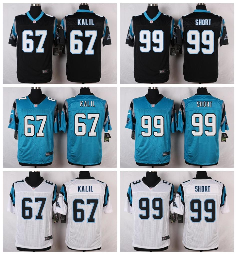 6cbc7748c ... 100% Stitiched,High quality,Carolina Panthers 67 Ryan Kalil 99 Kawann  Short Elite ...