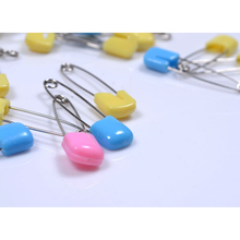 10 pcs/set Wholesales baby safety pin stainless steel plastic baby infant supplies random color
