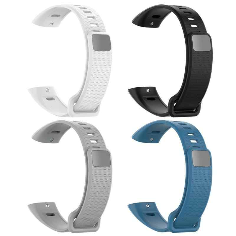 Silicone Watch Band Strap Belt for Huawei Band 2/Band 2 Pro/ERS-B19/ERS-B29 White Black Gray Blue