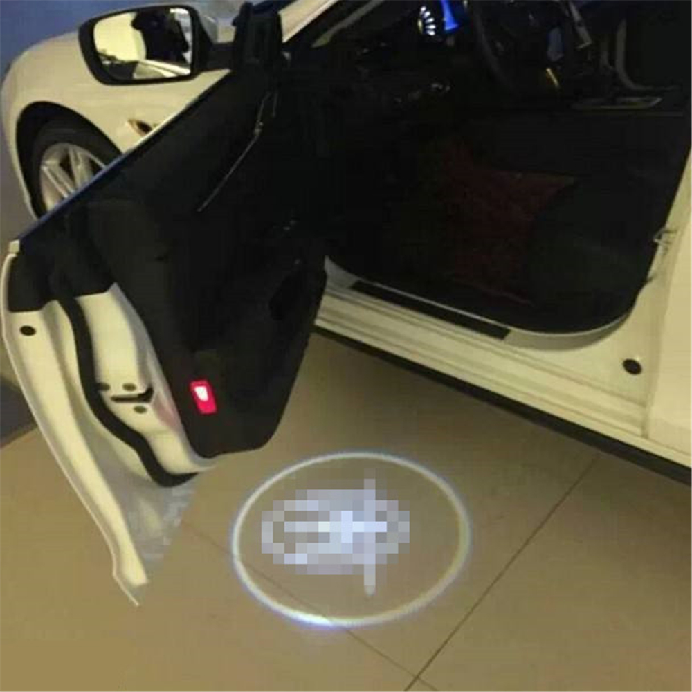 JingXiangFeng Case For chery Case For pontiac 2PC Universal Ghost Shadow car styling LED Logo Projector  Welcome Door Lights jingxiangfeng 2 pcs led ghost shadow courtesy welcome light car door projector lamp with logo case for skoda superb 2009 to 2014